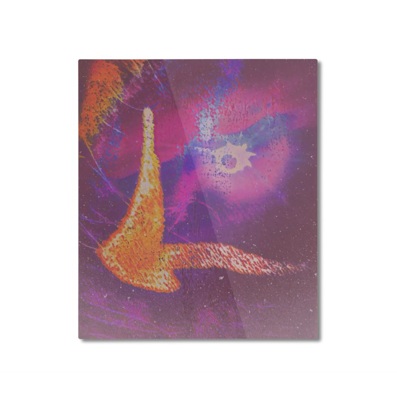 Fire Bird Home Mounted Aluminum Print by An Authentic Piece