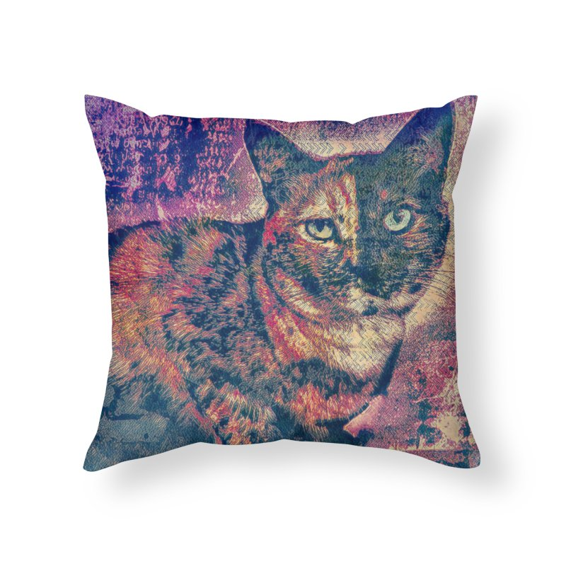 Mercy Stares Home Throw Pillow by An Authentic Piece