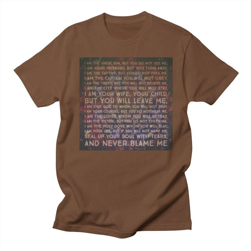 Never Blame Me Women's Regular Unisex T-Shirt by An Authentic Piece