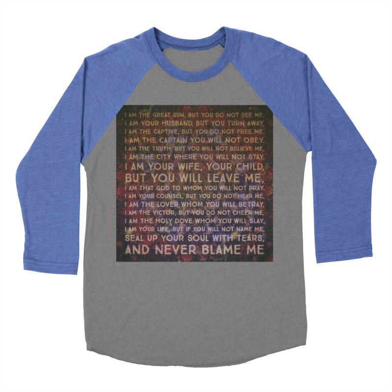 Never Blame Me Women's Baseball Triblend Longsleeve T-Shirt by An Authentic Piece