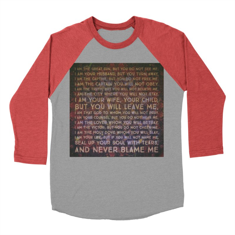 Never Blame Me Men's Baseball Triblend Longsleeve T-Shirt by An Authentic Piece