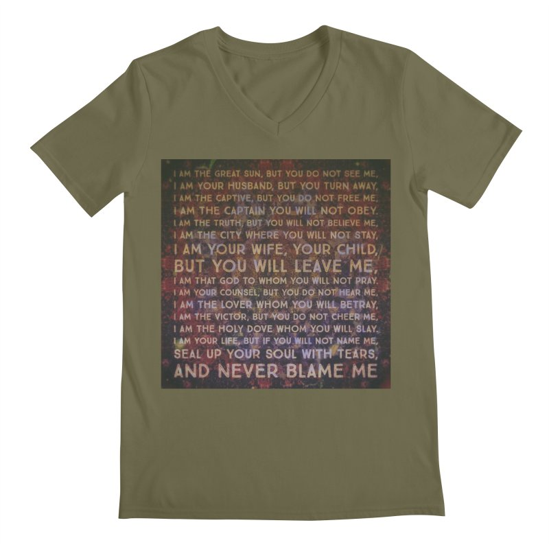 Never Blame Me Men's Regular V-Neck by An Authentic Piece