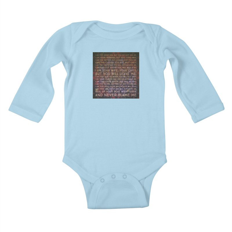 Never Blame Me Kids Baby Longsleeve Bodysuit by An Authentic Piece