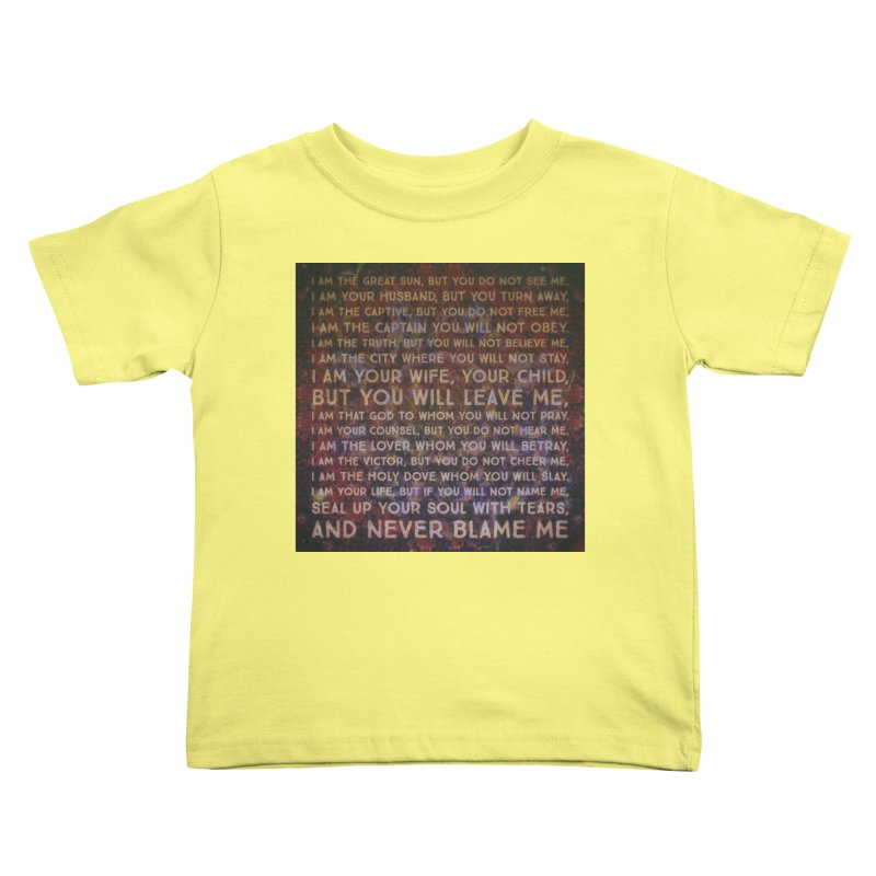 Never Blame Me Kids Toddler T-Shirt by An Authentic Piece