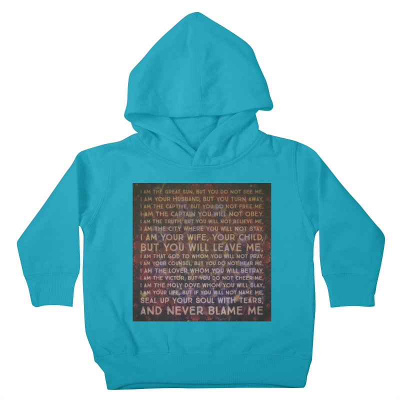Never Blame Me Kids Toddler Pullover Hoody by An Authentic Piece
