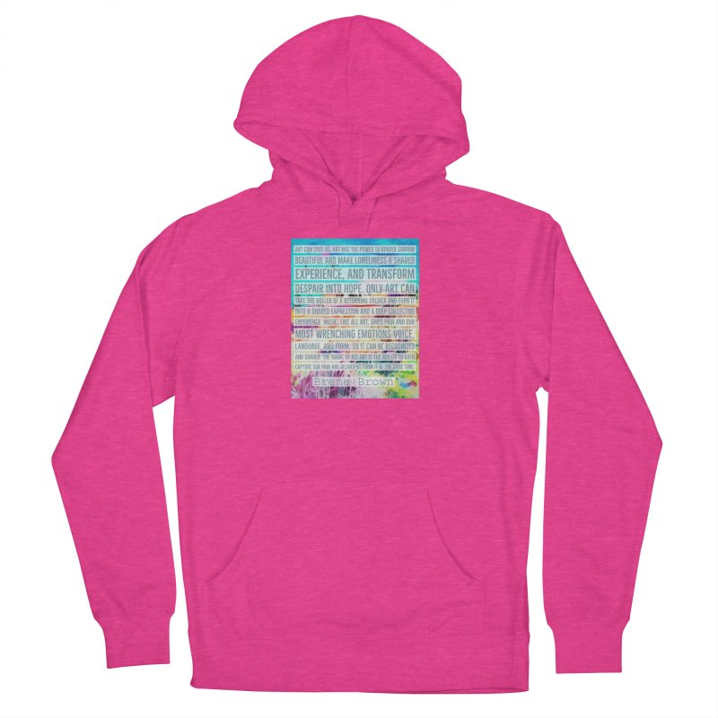 Art Can Save Us Women's French Terry Pullover Hoody by An Authentic Piece