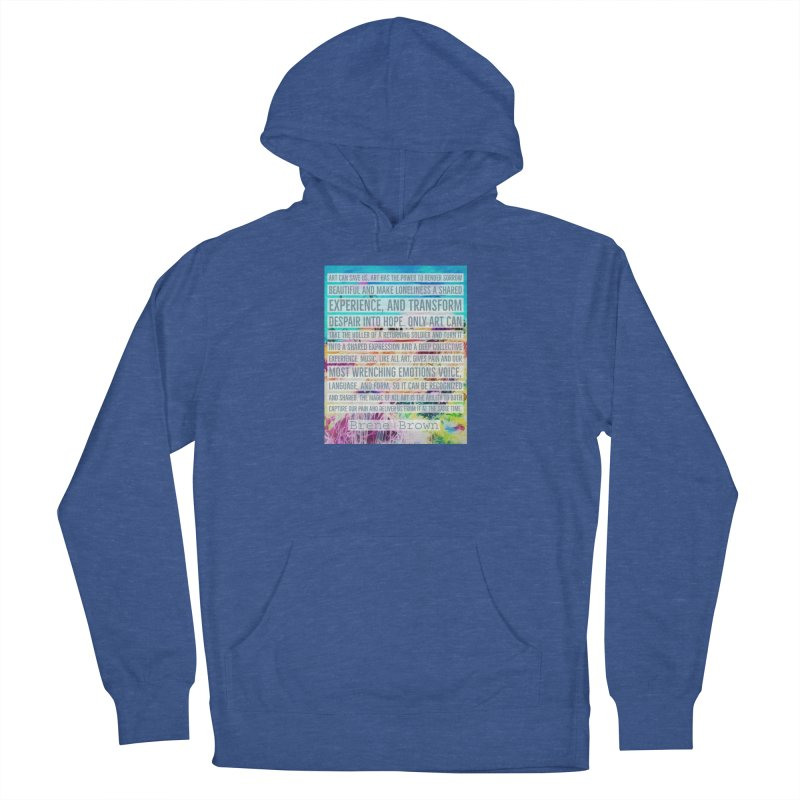 Art Can Save Us Men's French Terry Pullover Hoody by An Authentic Piece