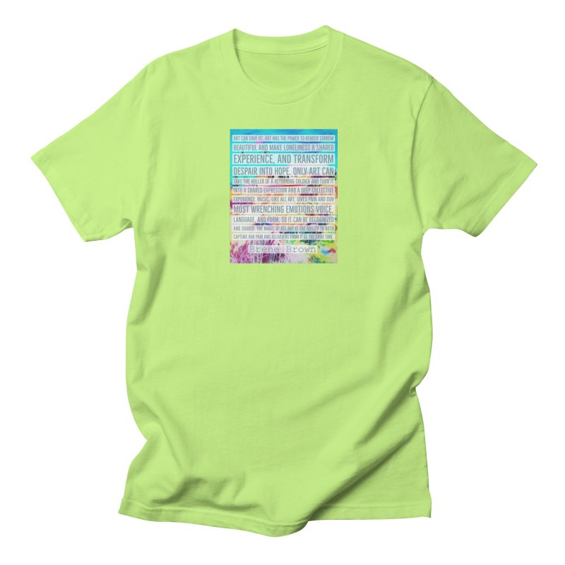 Art Can Save Us Men's Regular T-Shirt by An Authentic Piece