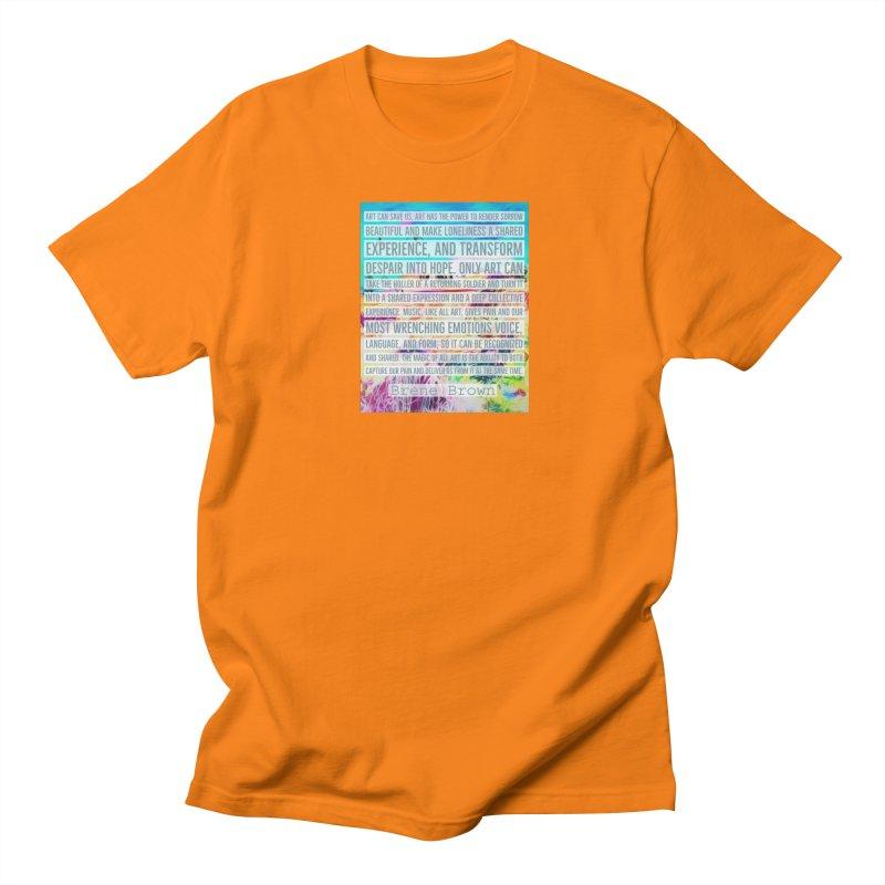 Art Can Save Us Women's Regular Unisex T-Shirt by An Authentic Piece