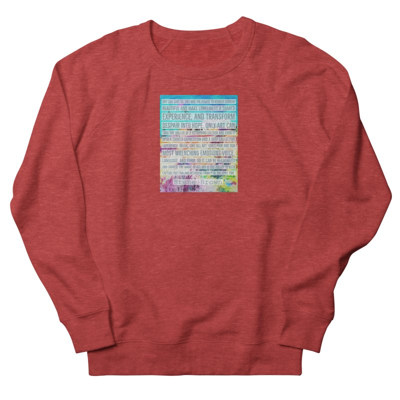 Art Can Save Us Men's French Terry Sweatshirt by An Authentic Piece