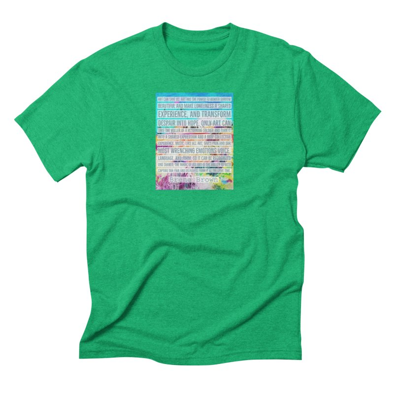Art Can Save Us Men's Triblend T-Shirt by An Authentic Piece