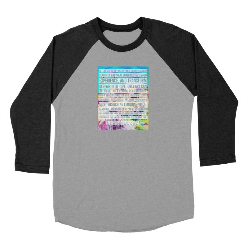 Art Can Save Us Women's Baseball Triblend Longsleeve T-Shirt by An Authentic Piece