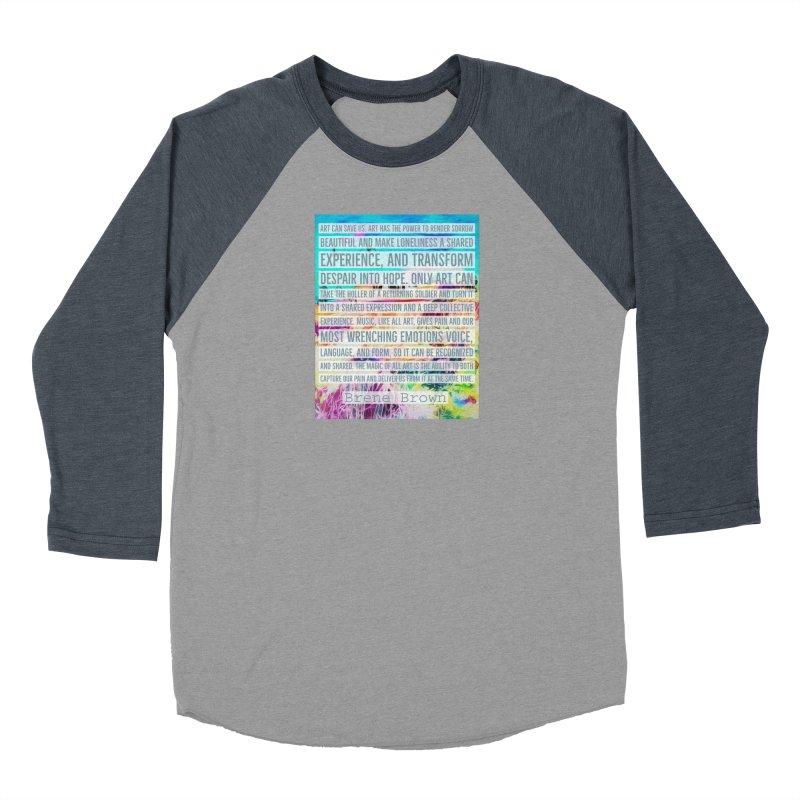 Art Can Save Us Men's Baseball Triblend Longsleeve T-Shirt by An Authentic Piece