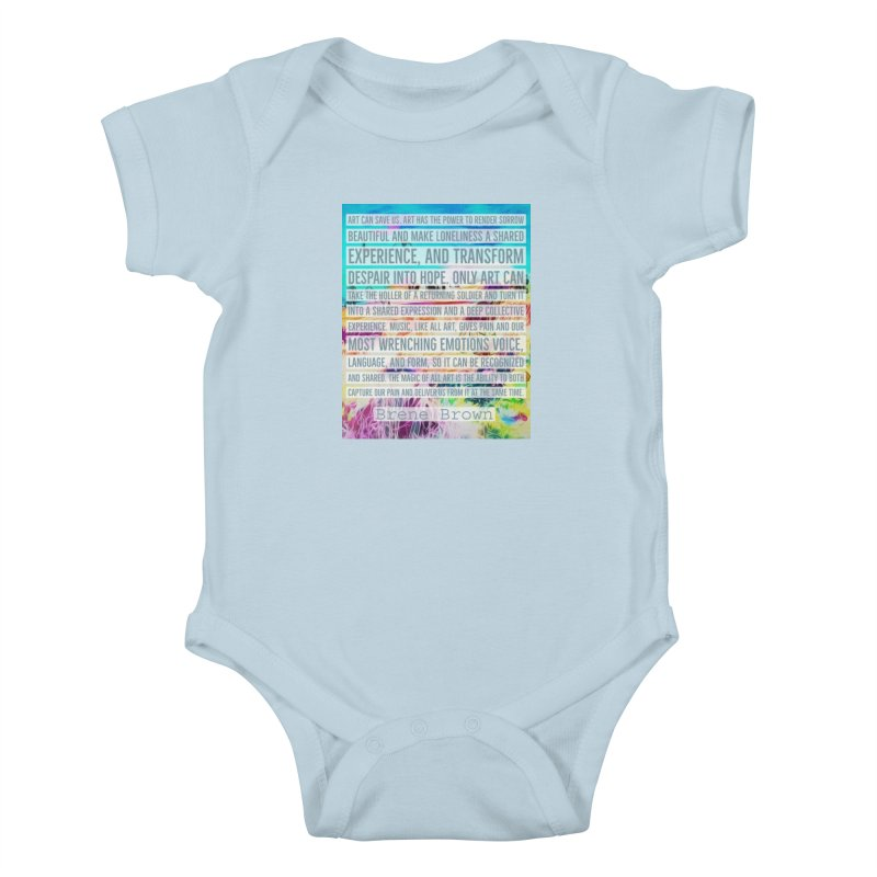 Art Can Save Us Kids Baby Bodysuit by An Authentic Piece