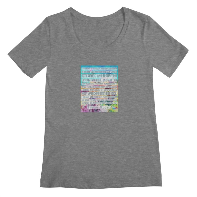 Art Can Save Us Women's Regular Scoop Neck by An Authentic Piece