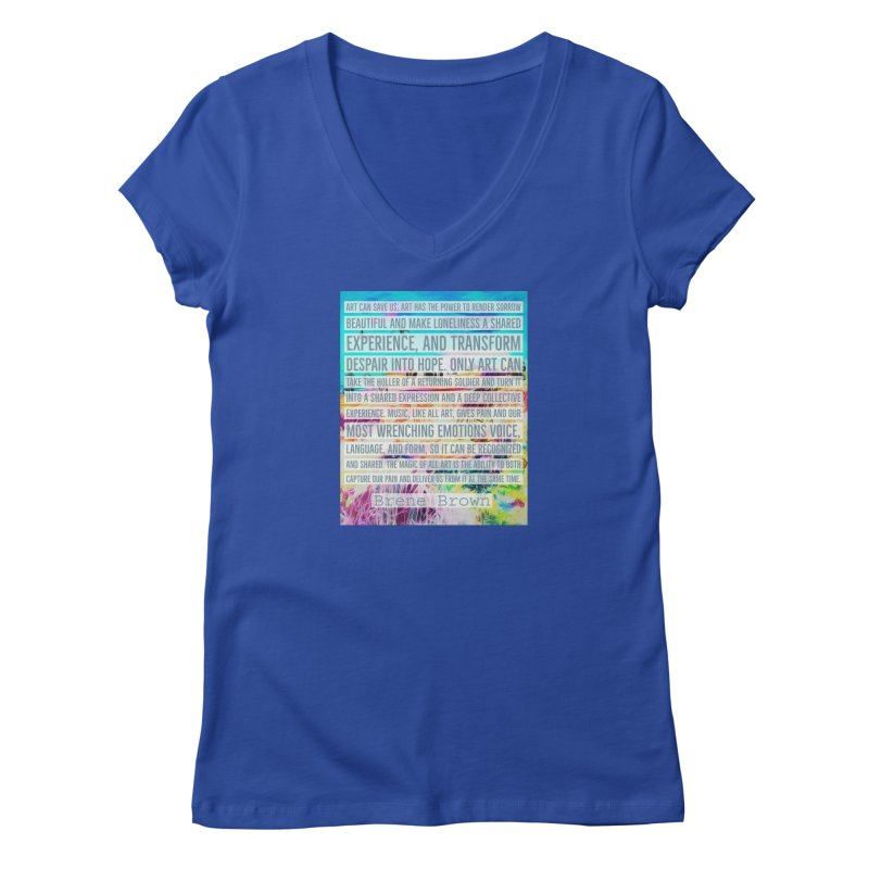 Art Can Save Us Women's Regular V-Neck by An Authentic Piece