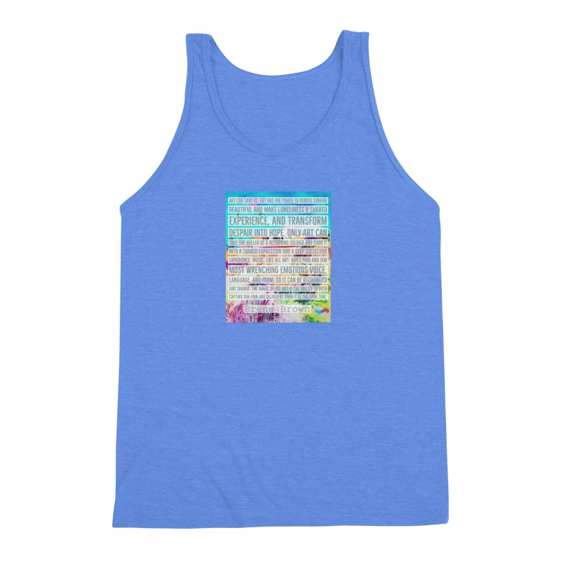 Art Can Save Us Men's Triblend Tank by An Authentic Piece