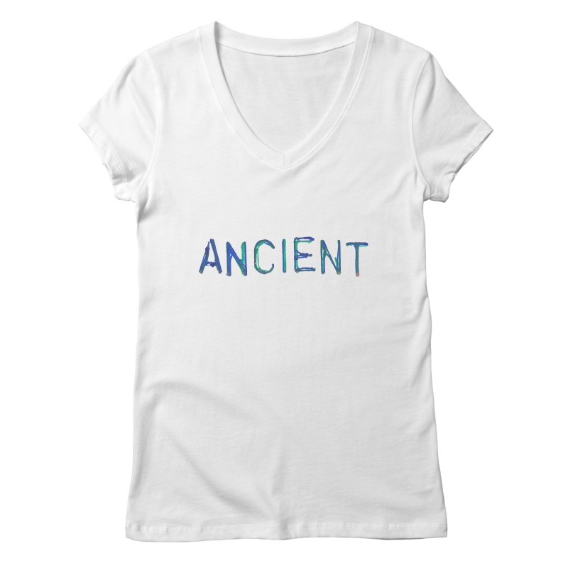 Ancient Champion Ancient Logo Blue Women's V-Neck by Dress like an Ancient Champion