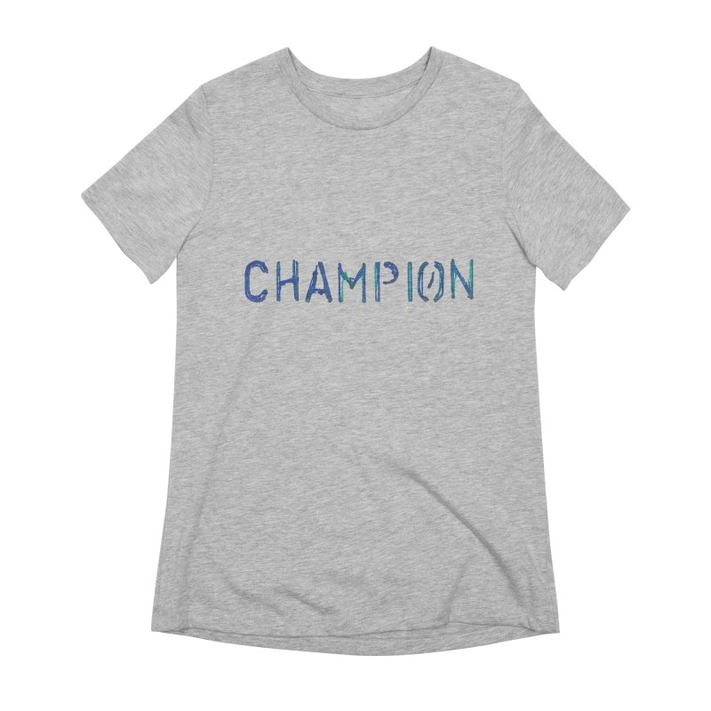 Ancient Champion Champion Logo Blue Women's T-Shirt by Dress like an Ancient Champion