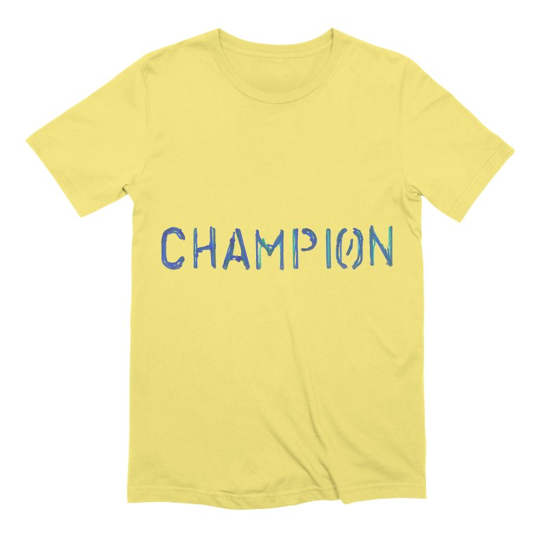 Ancient Champion Champion Logo Blue Men's T-Shirt by Dress like an Ancient Champion