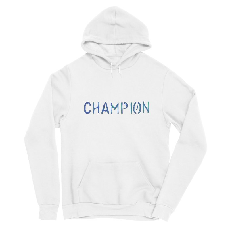 Ancient Champion Champion Logo Blue Women's Pullover Hoody by Dress like an Ancient Champion