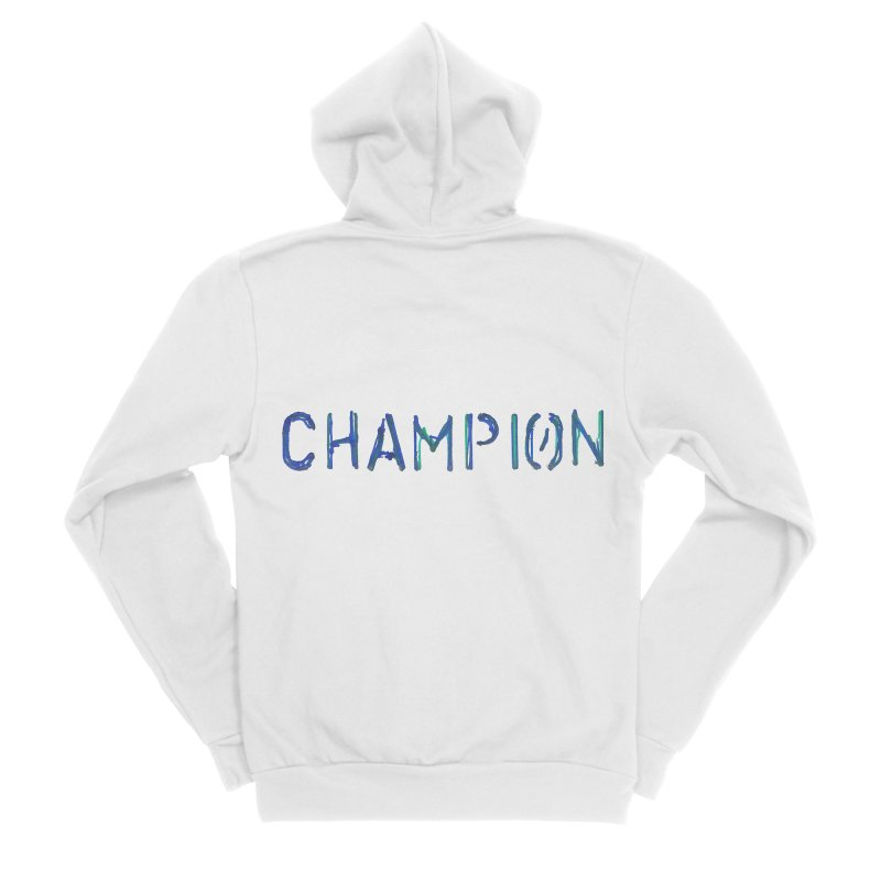 Ancient Champion Champion Logo Blue Men's Zip-Up Hoody by Dress like an Ancient Champion