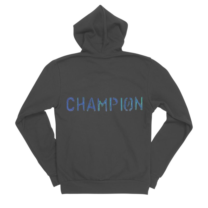 Ancient Champion Champion Logo Blue Women's Zip-Up Hoody by Dress like an Ancient Champion