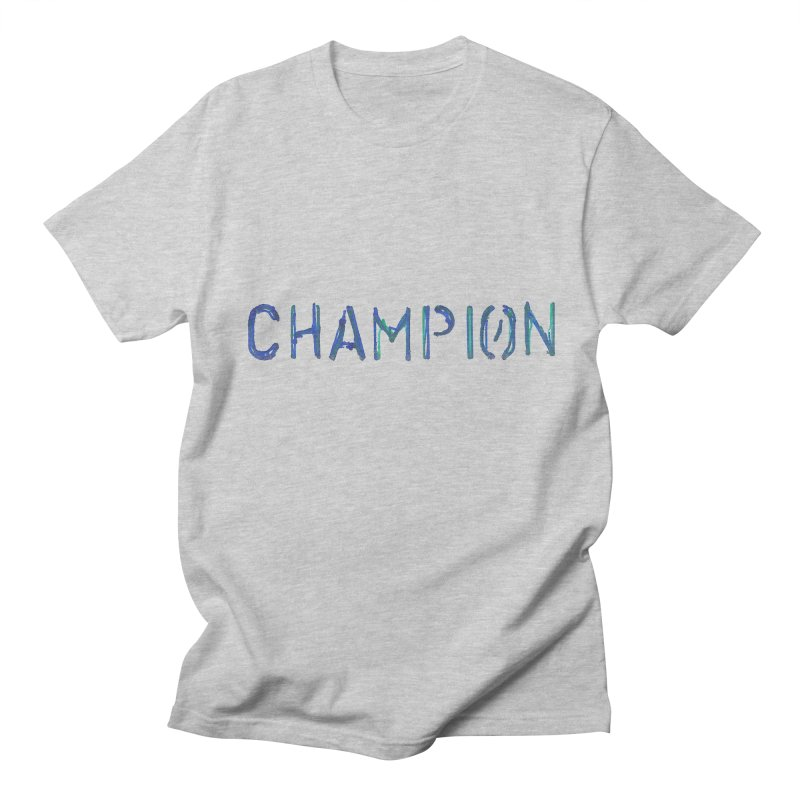 Ancient Champion Champion Logo Blue in Men's Regular T-Shirt Heather Grey by Dress like an Ancient Champion