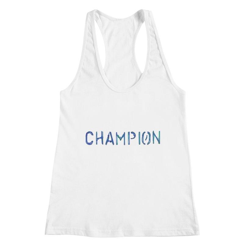 Ancient Champion Champion Logo Blue Women's Tank by Dress like an Ancient Champion