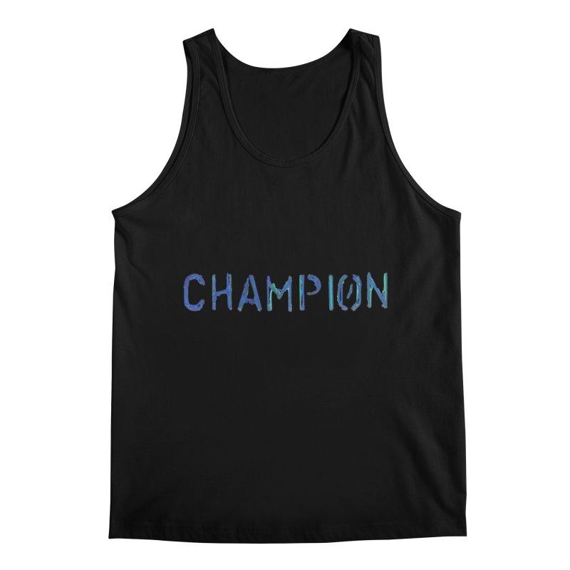 Ancient Champion Champion Logo Blue Men's Tank by Dress like an Ancient Champion