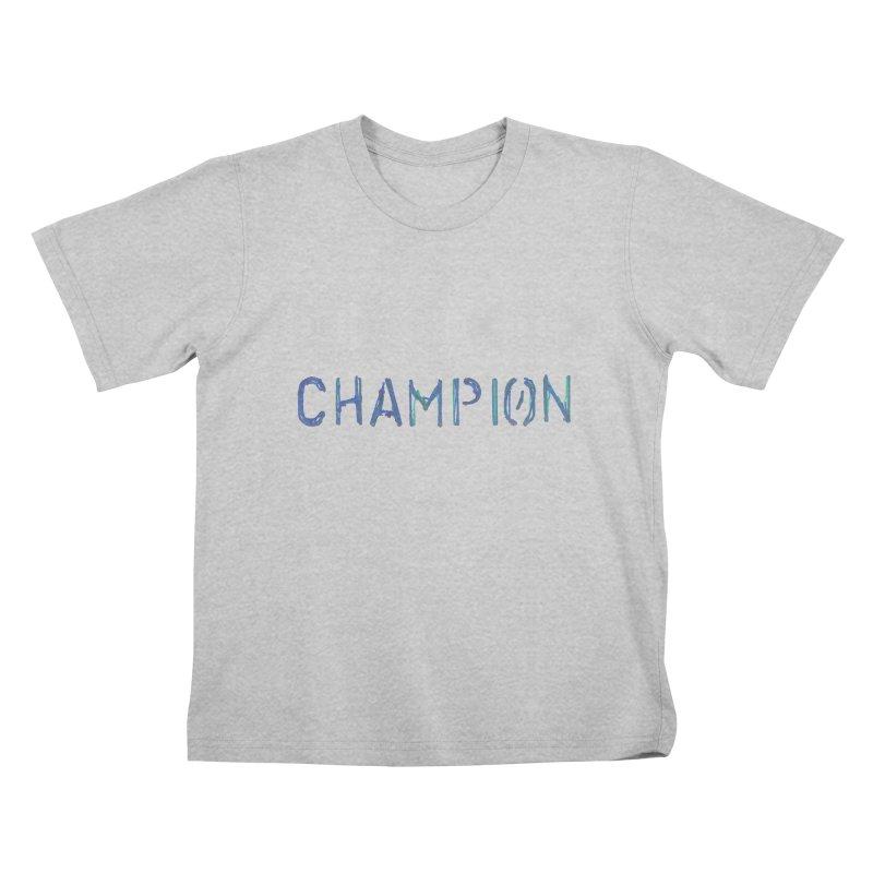 Ancient Champion Champion Logo Blue Kids T-Shirt by Dress like an Ancient Champion
