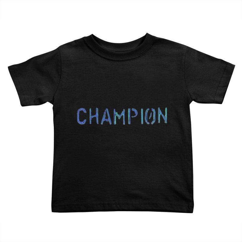 Ancient Champion Champion Logo Blue Kids Toddler T-Shirt by Dress like an Ancient Champion