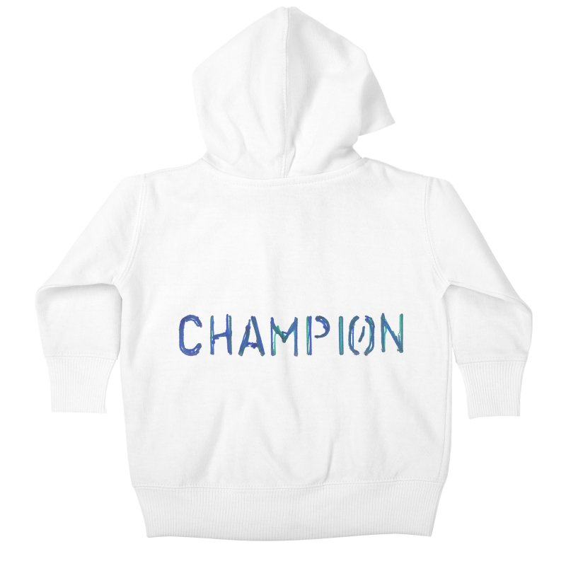 Ancient Champion Champion Logo Blue Kids Baby Zip-Up Hoody by Dress like an Ancient Champion