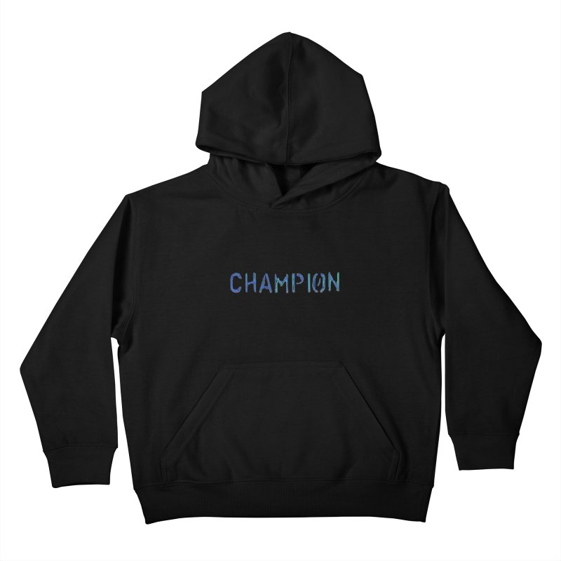 Ancient Champion Champion Logo Blue Kids Pullover Hoody by Dress like an Ancient Champion