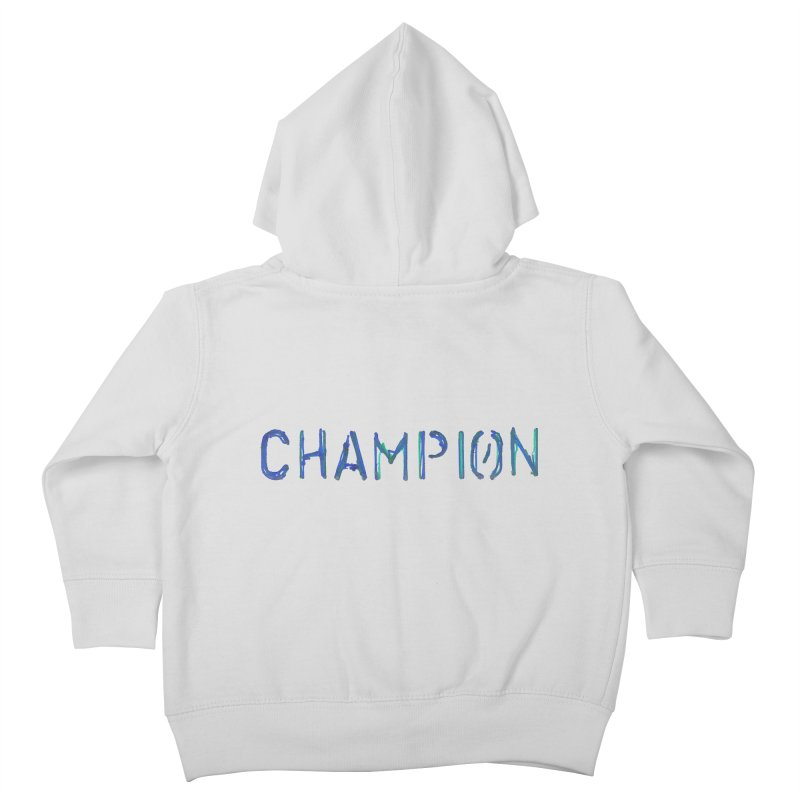 Ancient Champion Champion Logo Blue Kids Toddler Zip-Up Hoody by Dress like an Ancient Champion