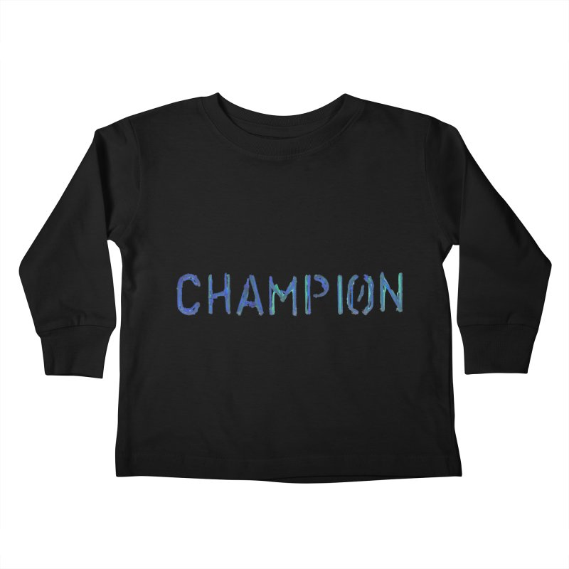Ancient Champion Champion Logo Blue Kids Toddler Longsleeve T-Shirt by Dress like an Ancient Champion