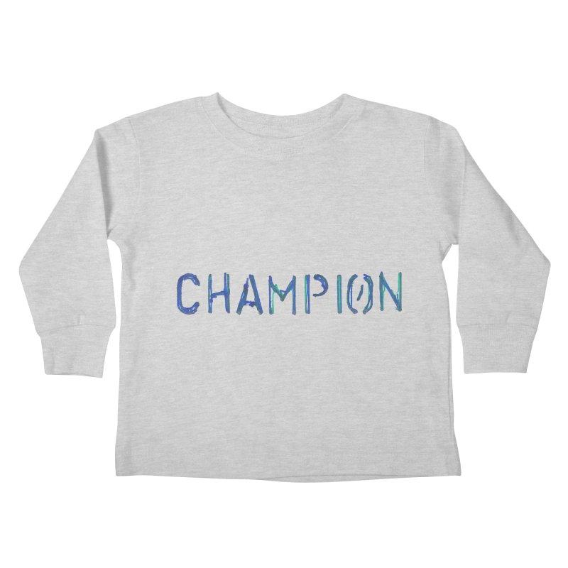 Ancient Champion Champion Logo Blue Kids Toddler Longsleeve T-Shirt by Dress like an Ancient Champion