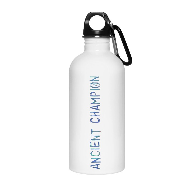Ancient Champion Vertical Blue Logo Accessories Water Bottle by Dress like an Ancient Champion