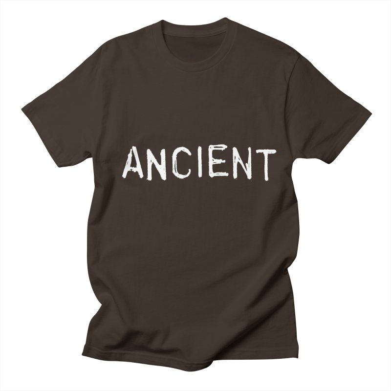 Ancient Champion Ancient Logo white in Men's Regular T-Shirt Chocolate by Dress like an Ancient Champion