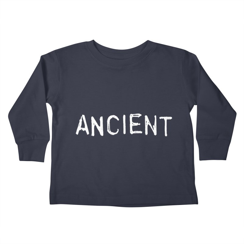 Ancient Champion Ancient Logo white Kids Toddler Longsleeve T-Shirt by Dress like an Ancient Champion