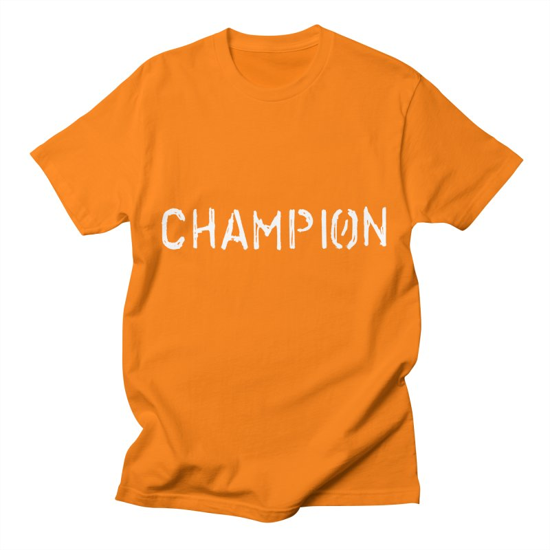 Ancient Champion Champion Logo White Men's T-Shirt by Dress like an Ancient Champion