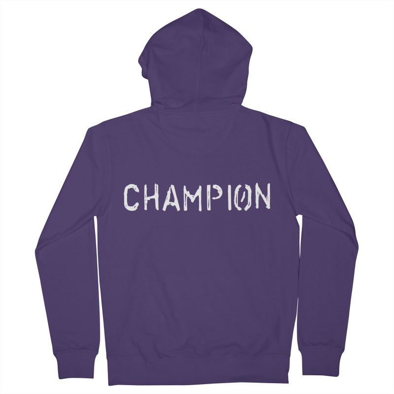 Ancient Champion Champion Logo White Women's Zip-Up Hoody by Dress like an Ancient Champion