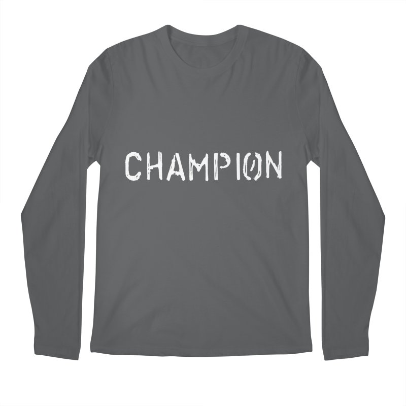 Ancient Champion Champion Logo White Men's Longsleeve T-Shirt by Dress like an Ancient Champion