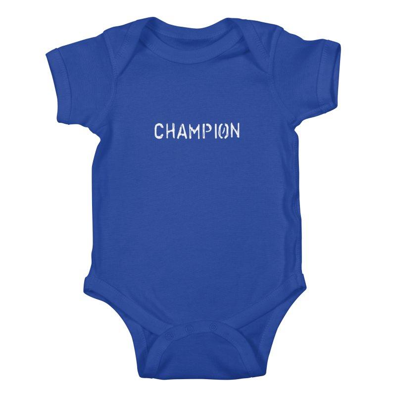 Ancient Champion Champion Logo White Kids Baby Bodysuit by Dress like an Ancient Champion