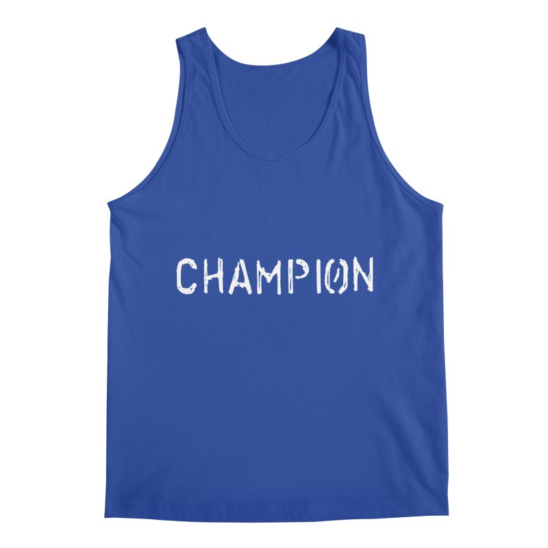Ancient Champion Champion Logo White Men's Tank by Dress like an Ancient Champion