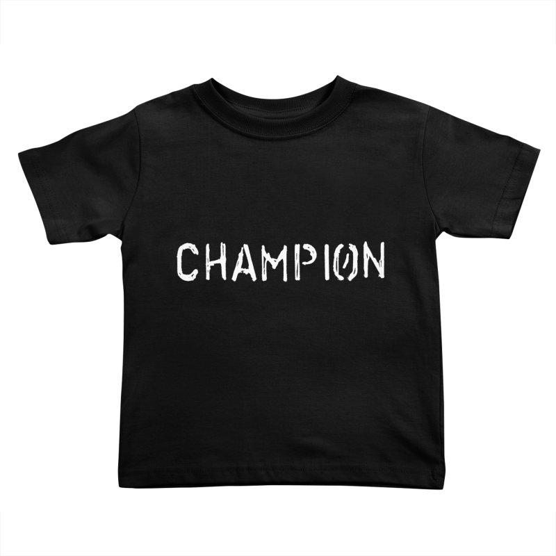 Ancient Champion Champion Logo White Kids Toddler T-Shirt by Dress like an Ancient Champion