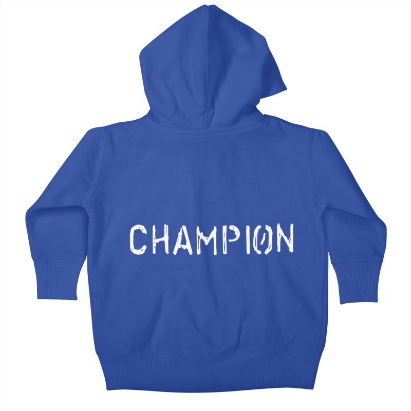 Ancient Champion Champion Logo White Kids Baby Zip-Up Hoody by Dress like an Ancient Champion