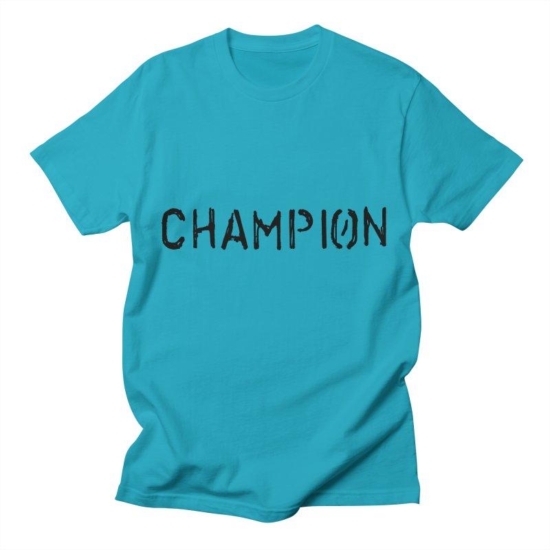 Ancient Champion Champion Logo Black Men's T-Shirt by Dress like an Ancient Champion
