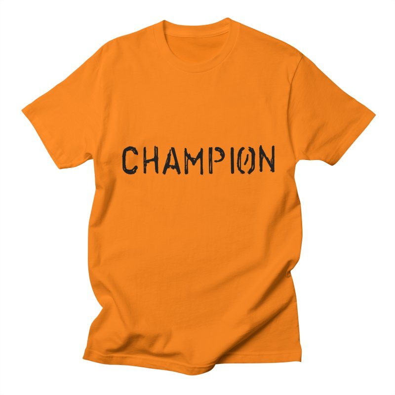 Ancient Champion Champion Logo Black in Men's Regular T-Shirt Orange by Dress like an Ancient Champion