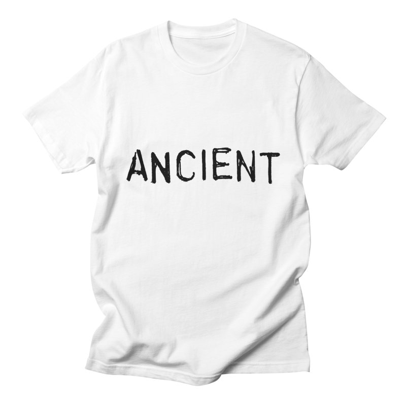 Ancient Champion Ancient Logo Black in Men's Regular T-Shirt White by Dress like an Ancient Champion